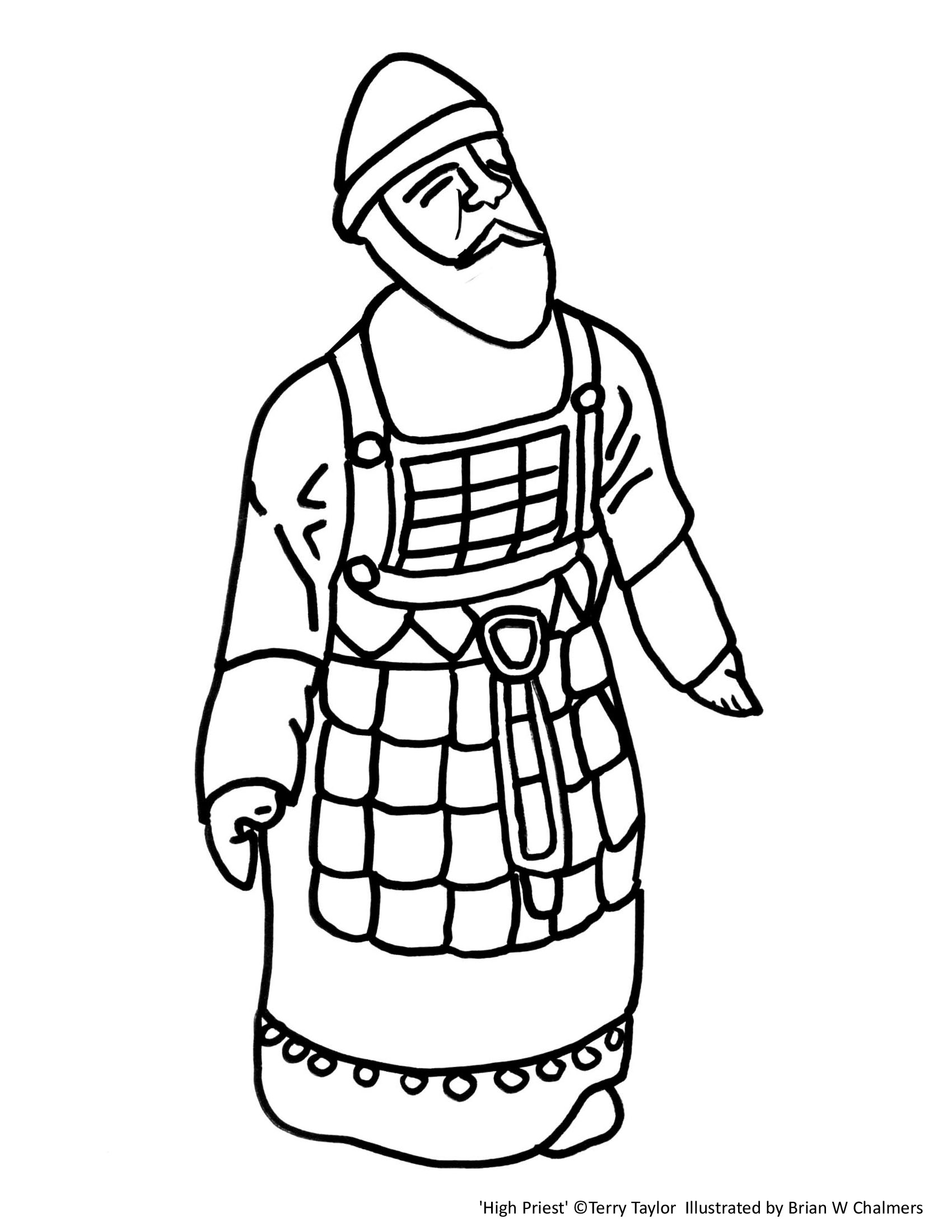 high priest coloring pages - photo#1