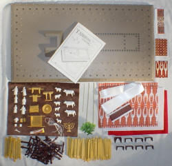 Photo of pieces included intabernacle model kit.