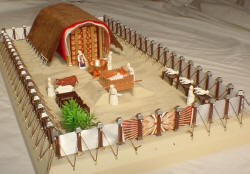 Photo of completed tabernacle model, as available on this site.