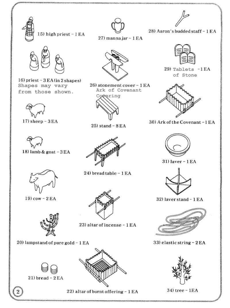 Coloring picture of the ark of covenant - Tabernacle Instructions