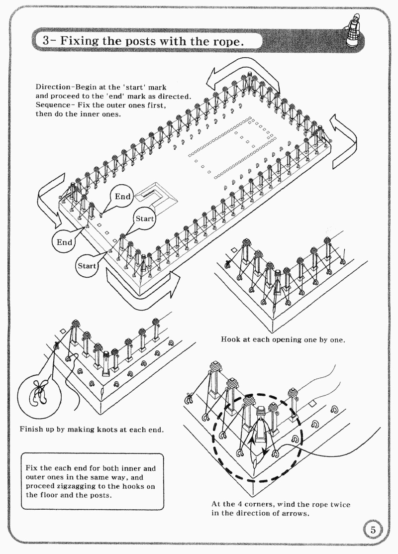 Tabernacle Instructions Outer Wall Ropes