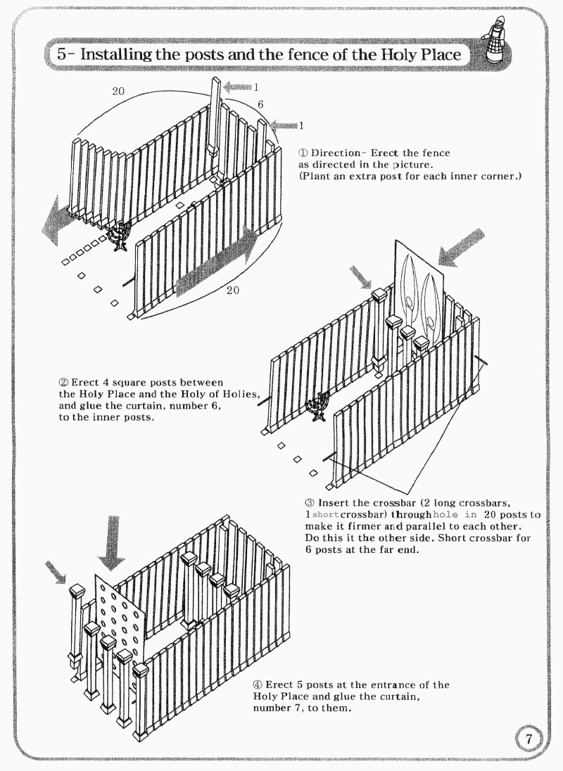 Tabernacle Instructions: Holy Place Walls for Items Inside The Tabernacle  70ref